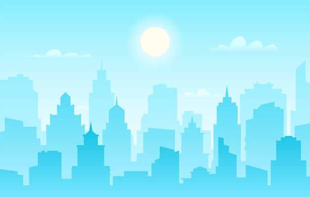 Skyline della città moderna, panoramica diurna