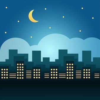 Illustrazione di skyline città moderna Vettore Premium
