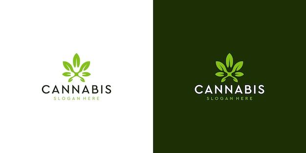 Modern clean cannabis logo deisgn