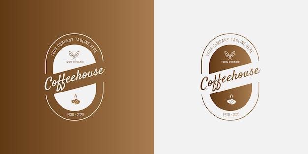 Concetto di logo caffè moderno per affari caffè caffè