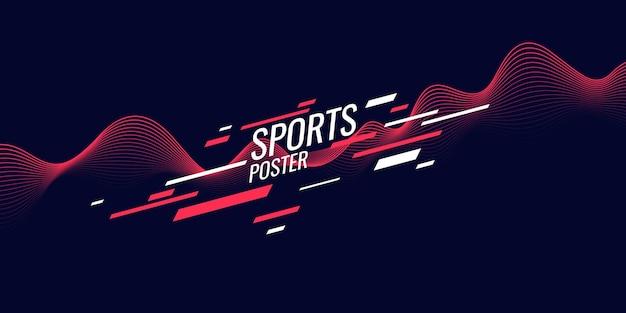 Poster colorato moderno per illustrazione sportiva adatto per il design
