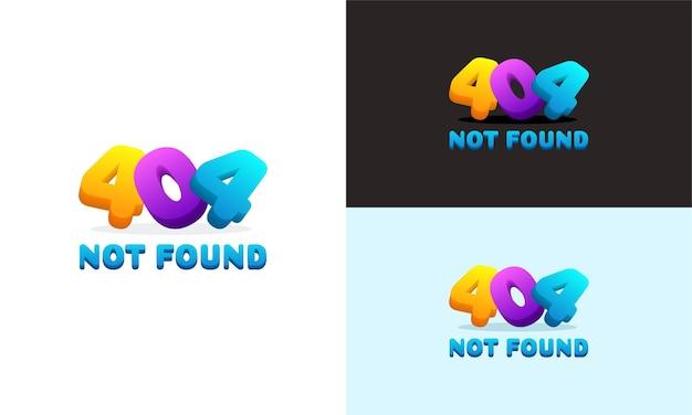 Illustrazione di sfondo errore pagina 404 colorata moderna non trovata, sfondo errore 404 può essere utilizzato per banner web, infografiche,