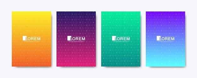 Le linee di gradiente astratte colorate moderne modellano il fondo