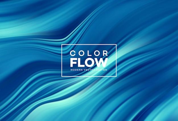 Sfondo moderno flusso colorato.