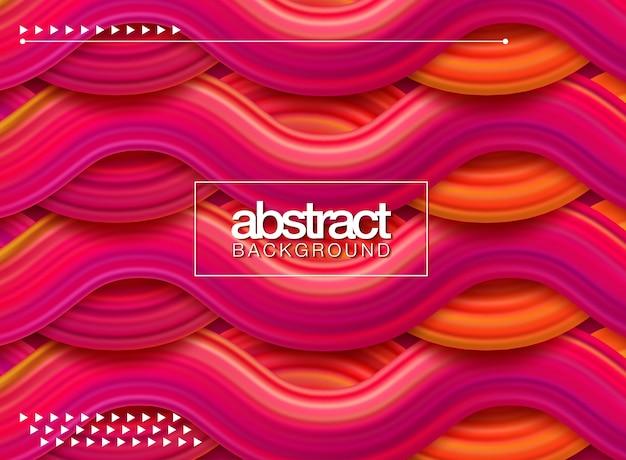 Poster di flusso colorato moderno. forma liquida dell'onda nella priorità bassa di colore blu