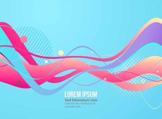 Poster moderno flusso colorato. vernice colorata a forma di onda liquida. spostare linee semplici. art design per il tuo progetto di design.