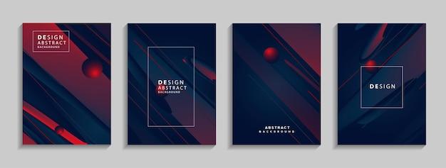 Sfondo astratto geometrico colorato moderno composizione di forme fluide per banner poster book Vettore Premium