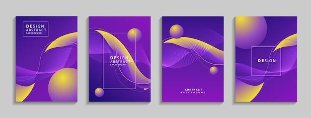 Sfondo astratto geometrico colorato moderno composizione di forme fluide per banner poster book