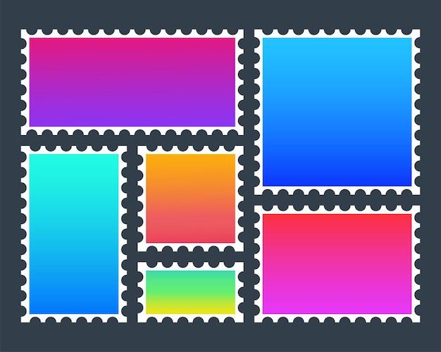 Francobollo colorato moderno, ottimo design per qualsiasi scopo