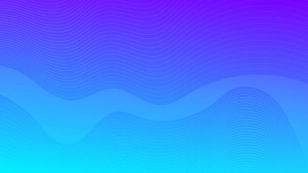 Fondo variopinto moderno di pendenza della curva dell'onda. sfondo di presentazione astratta minimale blu. illustrazione vettoriale