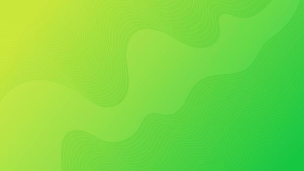Fondo variopinto moderno di pendenza della curva dell'onda. sfondo di presentazione astratta minimale verde. illustrazione vettoriale