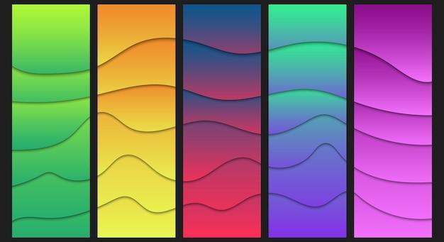 Illustrazione di forme ondulate colorate moderne