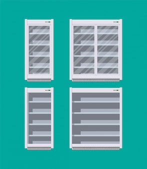 Frigorifero o frigorifero commerciale moderno