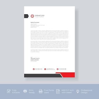 Carta intestata aziendale moderna