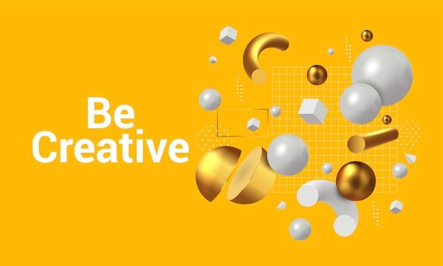 Concetto moderno di essere creativi