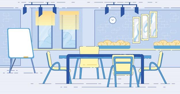 Sala conferenze moderna, sala per riunioni di lavoro