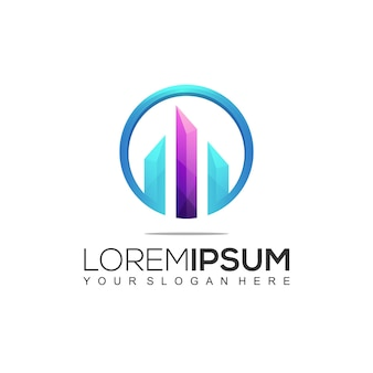 Costruzione moderna logo design