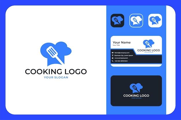 Design del logo di cucina moderna e biglietto da visita
