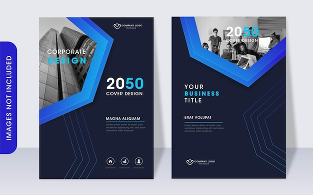 Modello di progettazione di copertina del libro aziendale moderno
