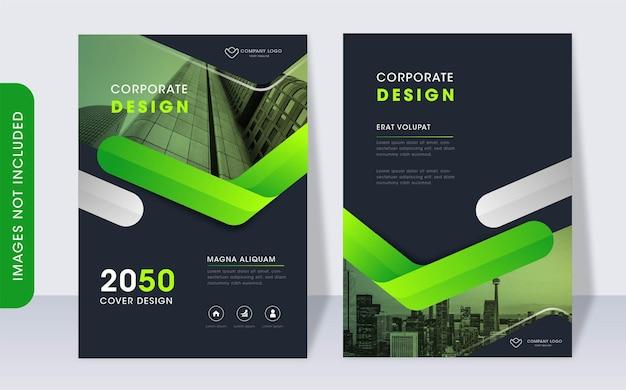 Modello di copertina del libro aziendale moderno