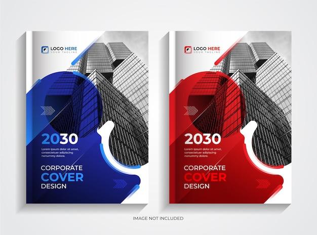 Set di design per copertine di libri aziendali moderni