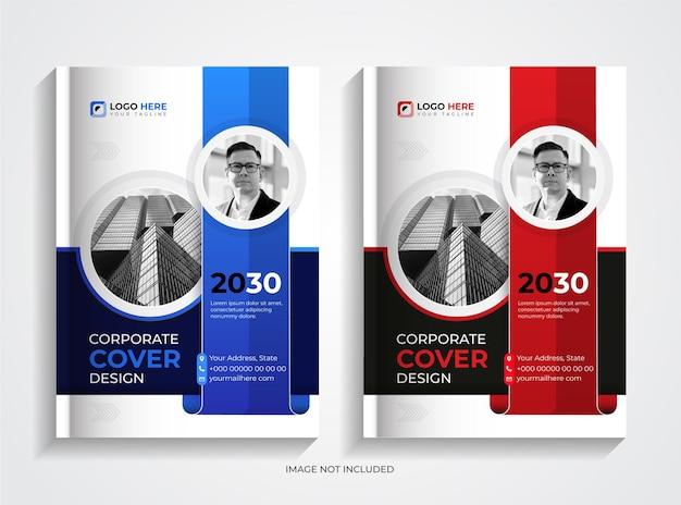 Modello moderno per copertina di libro aziendale aziendale