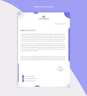 Moderna carta intestata aziendale