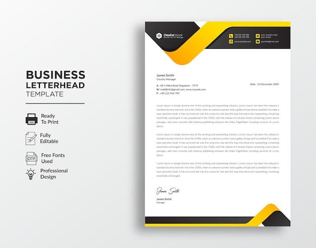 Modello moderno di carta intestata aziendale