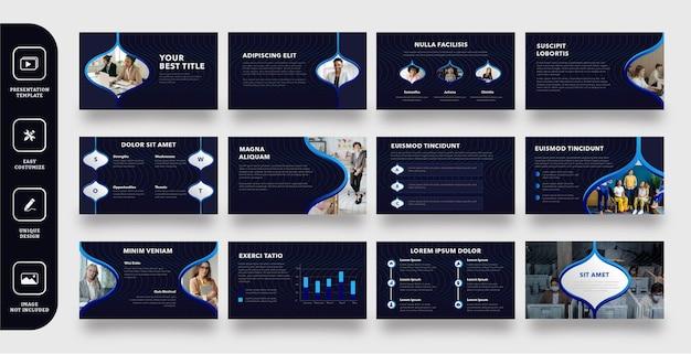 Modello di presentazione di diapositive aziendali moderne