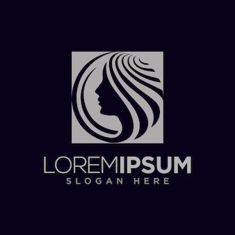 Concetto di design del logo cosmetico moderno
