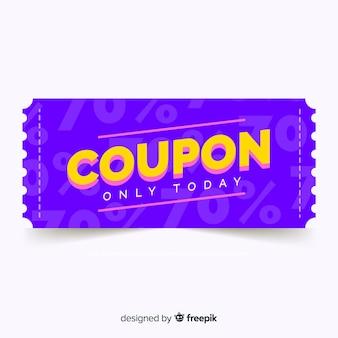 Modello di coupon o buono moderno