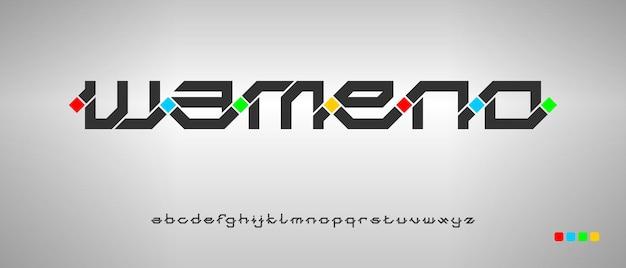 Alfabeto creativo moderno con modello in stile urbano