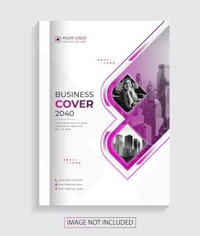 Design moderno e creativo per la copertina del libro vettore premium