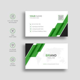Design del modello di biglietto da visita moderno e creativo