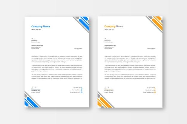 Carta intestata aziendale moderna e creativa