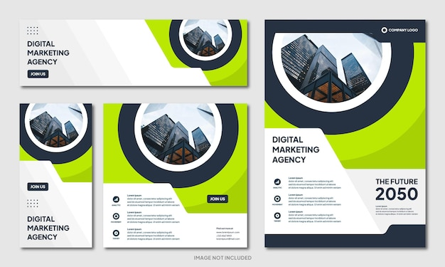 Modello di sfondo di progettazione brochure aziendale creativa moderna e banner post sui social media instagram