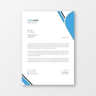 Carta intestata creativa moderna