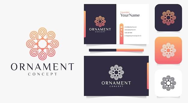 Moderno ornamento creativo logo design