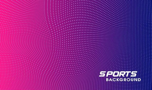Moderno design creativo dello sfondo sportivo