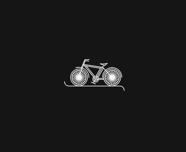 Disegno di arte moderna linea piatta in bicicletta, illustrazione vettoriale.
