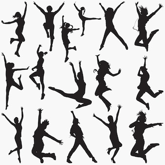 Sagome di danza moderna