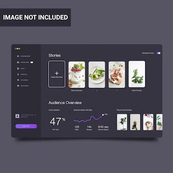Modello di sito web moderno dashboard