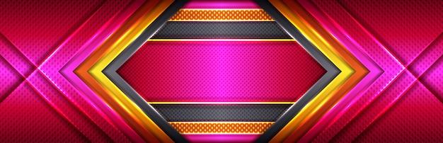 Linea dorata dal design moderno deluxe con sfumature rosa e rosse
