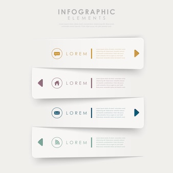 Elementi infographic del modello delle insegne di progettazione moderna isolati su white