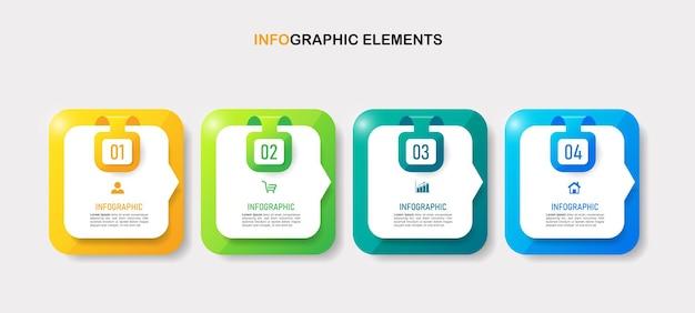 Modello di infografica dal design moderno