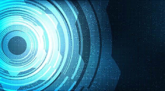 Moderna ruota dentata digitale e gallo su sfondo di tecnologia