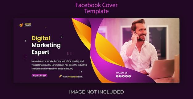 Modello di copertina di facebook e banner web di marketing digitale moderno