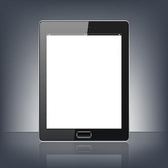 Pc digitale moderno della compressa isolato sui precedenti neri
