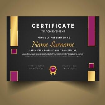 Design moderno del modello di certificato di diploma