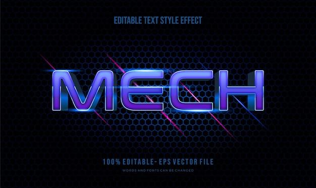 Effetto di testo modificabile moderno vivace colore moderno lucido. effetto stile testo. file vettoriali di caratteri modificabili